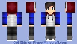 Bi-Colored Hoodie Minecraft Skin