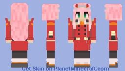 Zero Two aka 002 Minecraft Skin