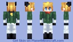 [Kari] Monochrome Superhero Bakeneko Minecraft Skin