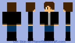 Black Leather Jacket Minecraft Skin