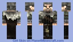 Geralt Witcher 3 Concept Art Minecraft Skin
