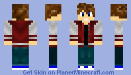 Guy With Red College jacket Minecraft Skin