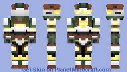 MMU - 01 - Megmethor - Mining Unit Cyber Soldier [For Heavy Work] Minecraft Skin