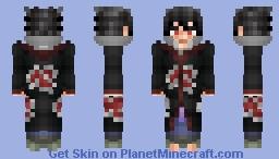 Sasuke Uchiha - Akatsuki Minecraft Skin