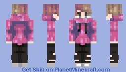 Neon Pink Hoodie | Skin Request Minecraft Skin