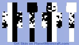 black and white 2 Minecraft Skin