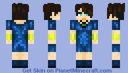 Princess Sarada (dragonball) Skin collab Mikufan06-Aspirin60 Minecraft Skin
