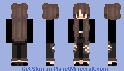 lil black grunge girl ♡ Minecraft Skin