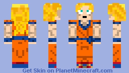 dragon ball - Son Goku ss3 Minecraft