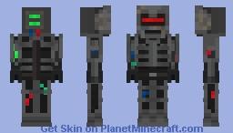 sinister looking robot Minecraft Skin