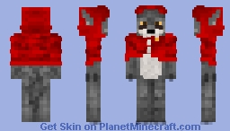 Red riding hood wolf Minecraft Skin