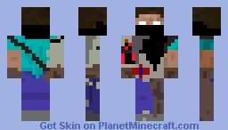 (Armored/Gang) Herobrine Minecraft Skin