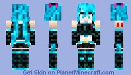 Hatsune Miku - Gun Gale Minecraft Skin