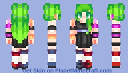 Let The Party Begin, Turn On The Lights And Have Fun || Alexandra [Neon Lights Contest Entry] Minecraft Skin