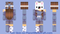 Nice and warm with my Bunny mask On!~MoOnIeS Minecraft Skin