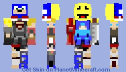 Super Smash Bros Challenger Minecraft Skin