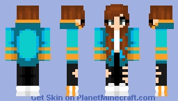 Orange And Blue Minecraft Skin