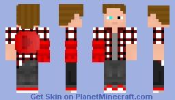 Techno of Ruby Minecraft Skin