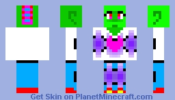 Neon Lizard Girl Minecraft