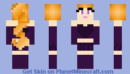 Daphne Blake Rockstar - Trap of Love - Hex Girls Minecraft Skin