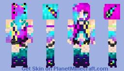 Neon Lights Skin Contest!!!!!! Elektrik Strike! Minecraft Skin