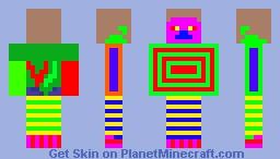 Amazing colorful sick steve skin Minecraft Skin