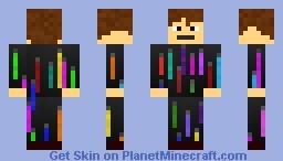 Neon boiii Minecraft Skin