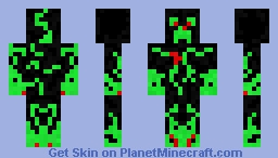 Green and red Christmas creeper Minecraft Skin