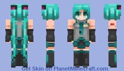 Hatsune Miku Remake | Peri Minecraft Skin