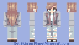 Maroon Jacket Minecraft Skin