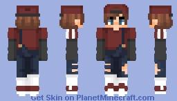 (c) lqvender | modern day mario (without hat in desc.) Minecraft Skin