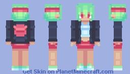 Sporty Contrast Chick Minecraft Skin
