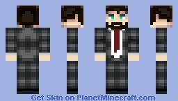 A Well dressed man (Now with a beard) Minecraft Skin