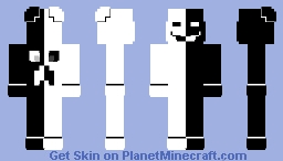 black and white 3 Minecraft Skin