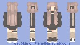 Its Cold Tonight - Hoodie Girl Minecraft Skin
