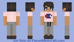 Pink Champion Shirt Tucked Minecraft Skin