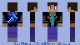 Steve from glitch Minecraft Skin