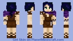 Cyann huntress from island Beneath The Mists Minecraft Skin