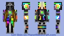Rainbow glow glider 657 Minecraft Skin