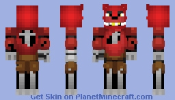 my version of Foxy from my skin seed account Minecraft Skin
