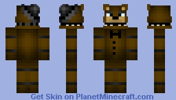 My version of Freddy from my Skin seed account Minecraft Skin