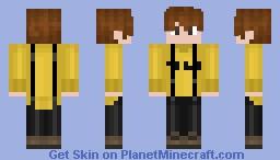 Minhyuk (Monsta X) with Yellow Turtleneck Minecraft Skin