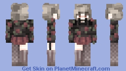 floral and fading Minecraft Skin