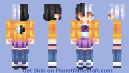 🌙 Everyone Say I Have A Dark Side || Moon Chan Skin 🌙 Minecraft Skin