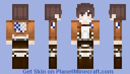 𝒻𝑜𝓇 𝒽 𝓊𝓂𝒶𝓃𝒾𝓉𝓎 ~ Attack On Titan ~ Scout Uniform Minecraft Skin