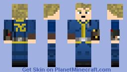 Fallout Vault 76 Jumpsuit Minecraft Skin