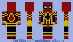 IRON-SPIDER(Avengers infinity war) Minecraft Skin