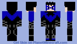 Nightwing(Rebirth) Minecraft Skin