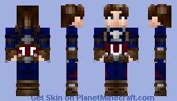 Captain America Avengers 4 EndGame /gift for my friend Aspirin60/End Game? Minecraft Skin