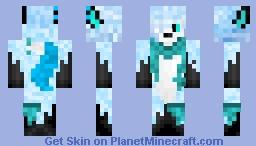 Frost Fox Light blue Minecraft Skin
